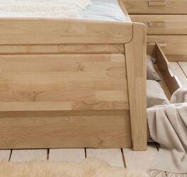 Komfort-Doppelbett Temara mit schicker Fußteil-Verblendung