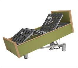 Komfortbett mit Pflegebett-Funktion bis zur Sesselposition stufenlos verstellbar