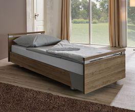 Komfortbett mit Pflegebett-Funktion Usedom in modernem Holzdekor