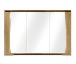Kommode Imst mit weißer Glasfront
