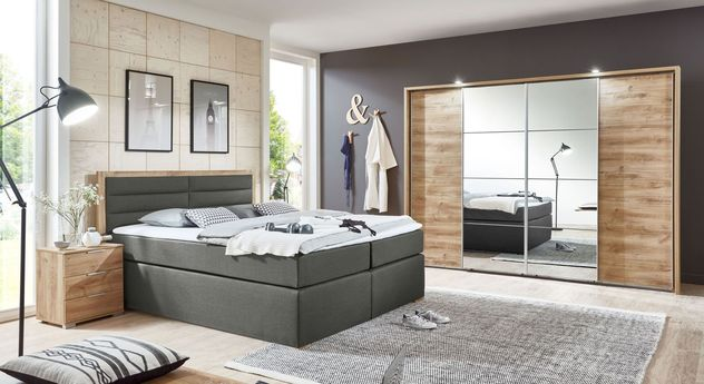 Preiswertes und stilvolles Komplett-Schlafzimmer Rovito