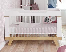 LIFETIME Babybett Monina mit Gitterstäben aus massiver Buche