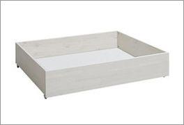 LIFETIME Bettschubkasten Original aus weiß lasiertem Kiefernholz