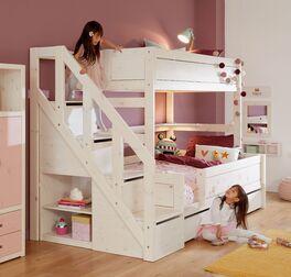 Modernes LIFETIME Familienbett Original mit Treppenmodul