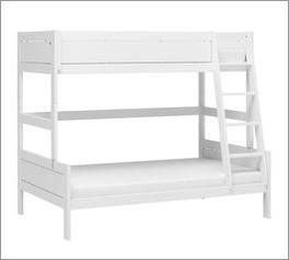 Weißes LIFETIME Familienbett Original mit dreiseitiger Bettumrandung