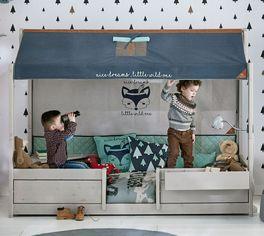 mitwachsendes kinderbett aus holz von lifetime 4 in 1 woodland. Black Bedroom Furniture Sets. Home Design Ideas