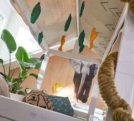LIFETIME Kinderbett 4-in-1 Wild Life mit gemütlichem Stoffdach