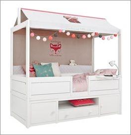 lifetime kojen himmelbett kiefer mit stauraum und dach original. Black Bedroom Furniture Sets. Home Design Ideas