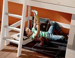 Hochwertiges LIFETIME Midi-Hochbett Holzhütte fürs Kinderzimmer