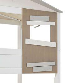 LIFETIME Midi-Hüttenbett Hideout mit Treppenmodul und Fensterwand