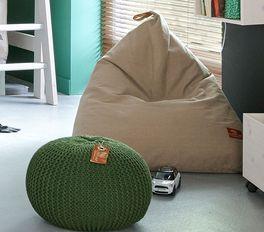 LIFETIME Sitzkissen & Sitzsäcke im rustikalen Charme für Kinder