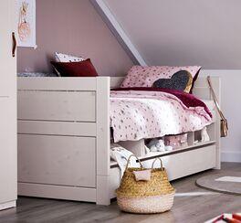 Modernes LIFETIME Stauraum-Sofabett Original für Kinderzimmer