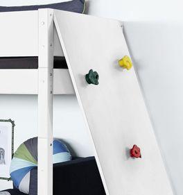 Midi-Hochbett Kids Towns Kletterwand mit farbigen Absetzungen