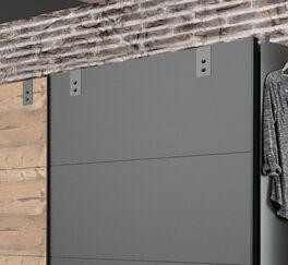 Schwebetüren-Kleiderschrank Midori mit rustikalen Manschetten