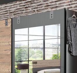 Preiswerter Spiegel-Schwebetüren-Kleiderschrank Midori in zweifarbigem Design