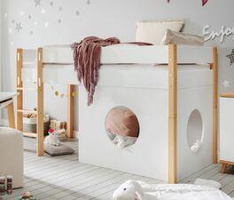 Mini-Hochbett Kids Nordic Girls umbaubar zum Juniorbett