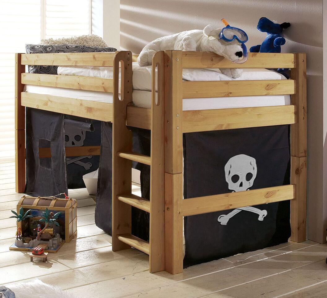 Mini-Hochbett Kids Paradise mit optionalem Vorhang