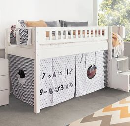 Mini-Hochbett Kids Town Design umbaubar zum Juniorbett