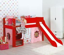 Mini-Rutschen-Hochbett Kids Town Color aus robustem MDF