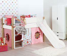 Mini-Rutschen-Hochbett Kids Town in kindgerechter Höhe