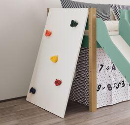 Mini-Rutschen-Hochbett Kids Town Color mit Kletterwand für Spielzimmer