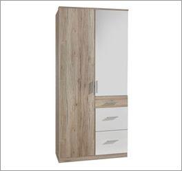 Moderner Kleiderschrank Zagra mit zwei Türen