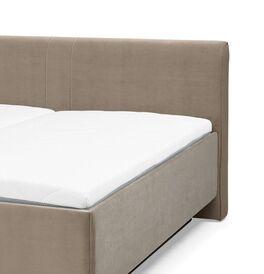 MUSTERRING Bett Epos mit breitem Keder-Kopfteil