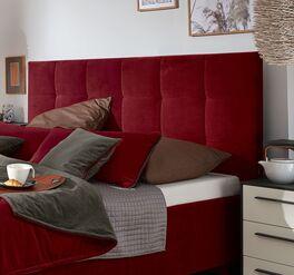 Angesagtes MUSTERRING Bett Epos mit Kopfteil in Quadratsteppung
