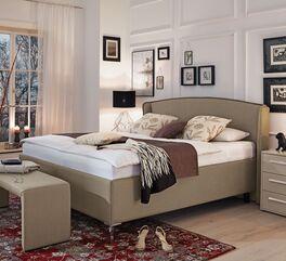 MUSTERRING Bett Epos mit Seitenwangen und robustem Bezug