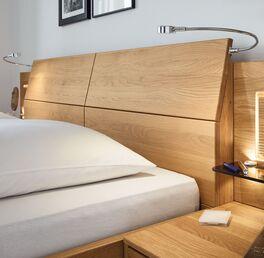 Hochwertiges Kopfteil vom MUSTERRING Bett Samoa mit Chromkufe