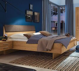 MUSTERRING Bett Samoa mit Quersockel in hochwertiger Verarbeitung