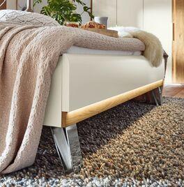 Musterring Bett Saphira Weiß mit hochwertigen Chromfüßen
