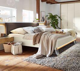 Musterring Bett Saphira Weiß im trendigen Stilmix