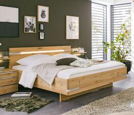 MUSTERRING Bett Savona 2.0 aus Eichenholz teilmassiv