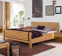 MUSTERRING Bett Sorrent mit eleganten Fräsungen