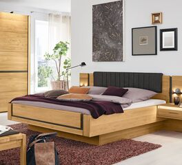 Angesagtes MUSTERRING Bett Sorrent in Schwebeoptik aus Eichenholz