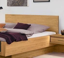 MUSTERRING Bett Sorrent in Schwebeoptik mit stabilem Holzkopfteil
