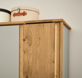 MUSTERRING Drehtüren-Kleiderschrank Saphira kieselgrau mit elegantem Passepartout-Rahmen
