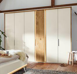 Hochwertiger Musterring Drehtüren-Kleiderschrank Saphira Weiß