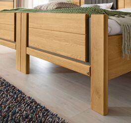 MUSTERRING Komfort-Einzelbett Sorrent mit elegantem Fußbereich