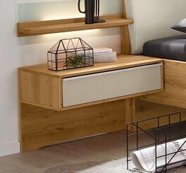 MUSTERRING Schwebe-Nachttisch Savona 2.0 mit Holzrückwand