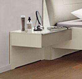 MUSTERRING Schwebenachttisch San Diego Weiß mit praktischer Schublade