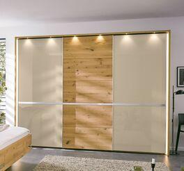 MUSTERRING Schwebetüren-Kleiderschrank Savona 2.0 mit mittiger Holztür