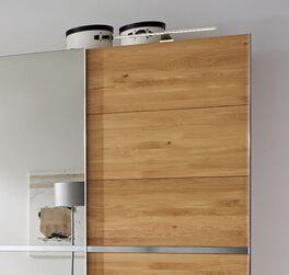 MUSTERRING Schwebetüren-Kleiderschrank Savona mit Spiegel und Metall-Griffleisten