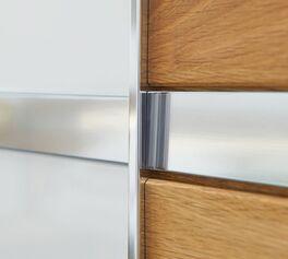 MUSTERRING Schwebetüren-Kleiderschrank Savona mit Zierelement aus Metall