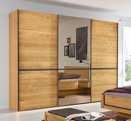 MUSTERRING Schwebetüren-Kleiderschrank Sorrent mit Holztüren aus massiver Eiche