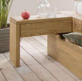Nachttisch Doba aus geöltem Wildeichen-Massivholz