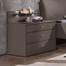 Nachttisch Foxley Komfort mit unterschiedlichen Schubladenhöhen