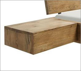 Platzsparender Nachttisch Quesada aus Echtholz