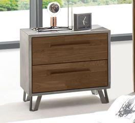 Moderner Nachttisch Sagunto mit Holzgriffen